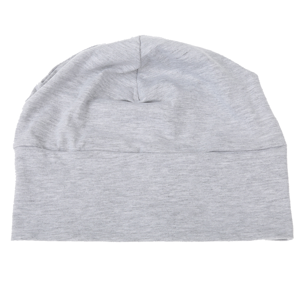 Fashion Adult Unisex Solid Cotton Nightcap Sleep Fashion Head Cap Hat Plain