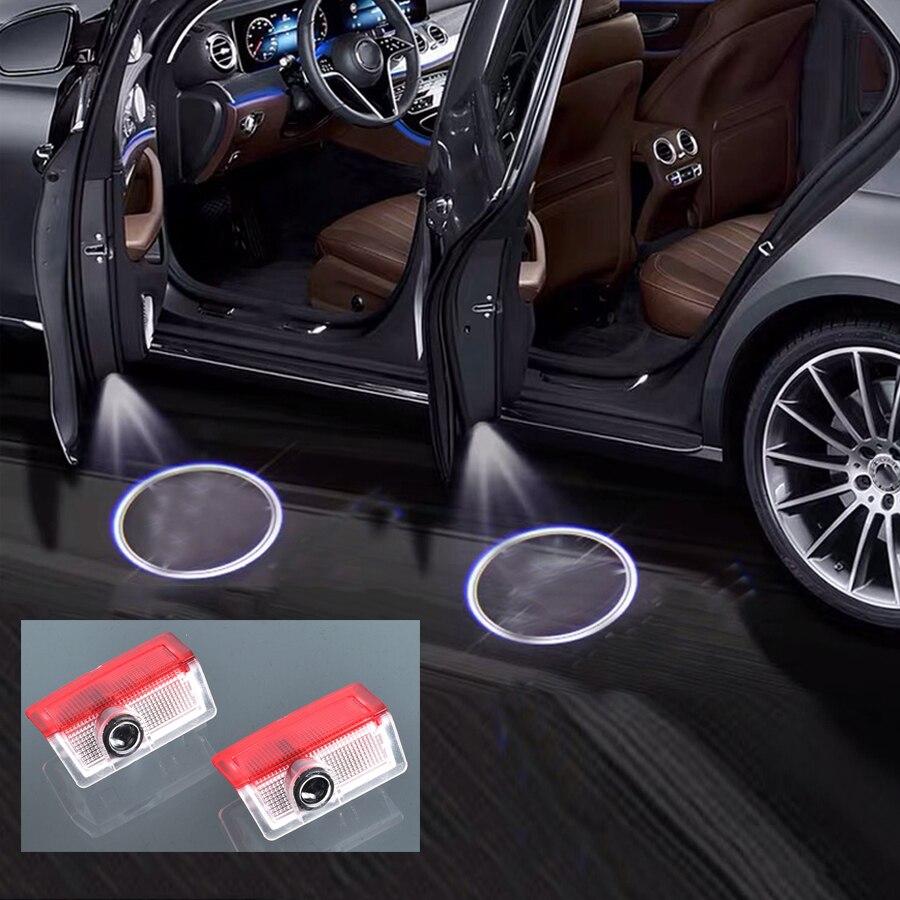2 шт. светильник автомобильные лампы для дверей Mercedes Benz A B C E GL GLC GLA Class W176 W177 W246 W205 W212 W166 W156 W253