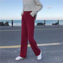 Hzirip todos os jogos tamanho grande suave calças de perna larga 2020 à moda feminina sólida lazer cintura alta chique ol moda reta