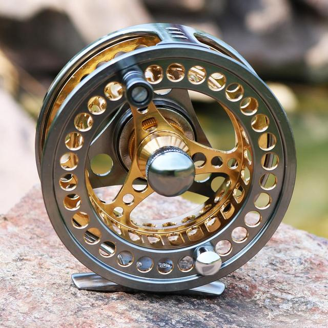 Sougayilang Large Arbor Fly Fishing Reel 2+1 BB High Die Casting Aluminium Alloy Spool Fly Reels Fishing Tackle 5