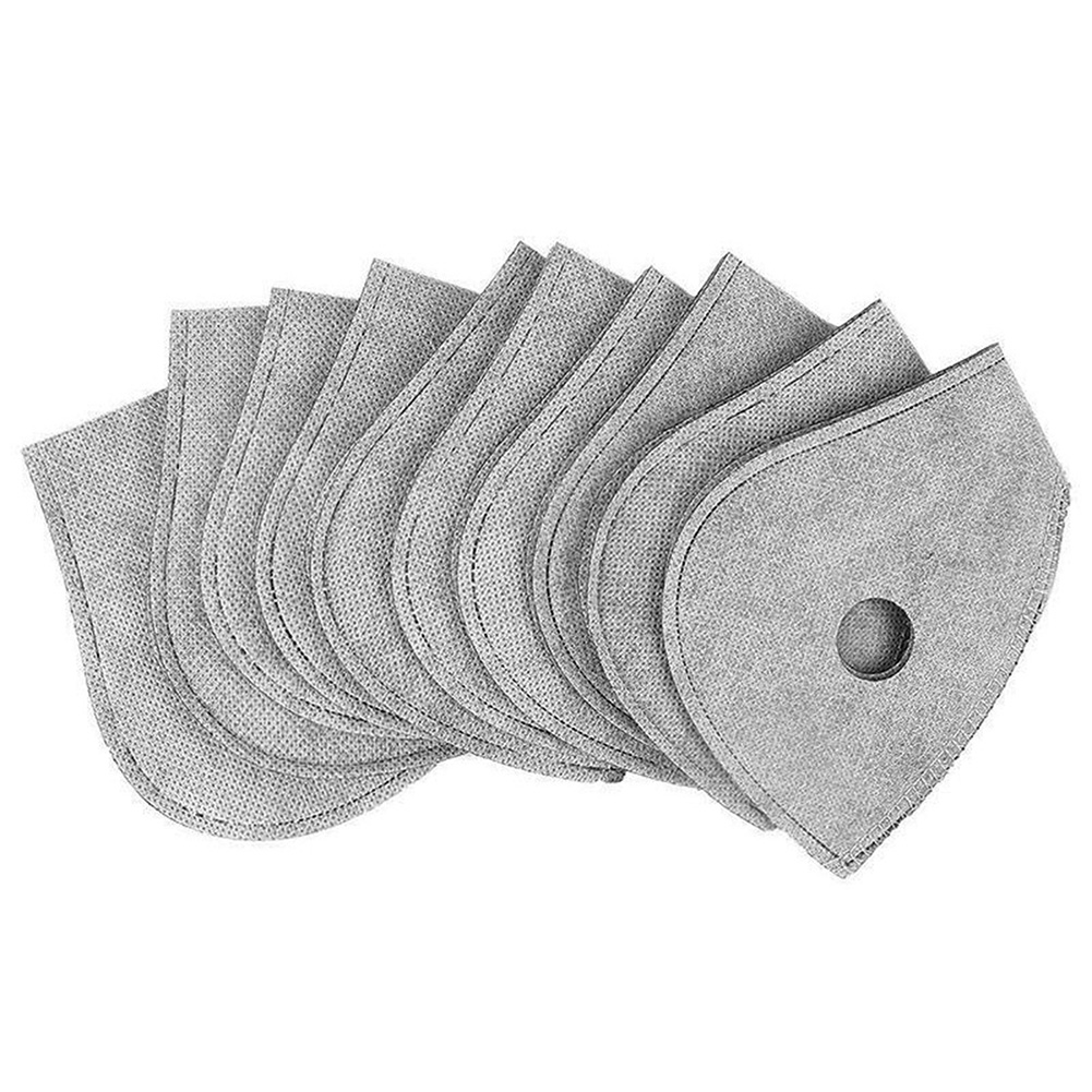 10Pcs PM2.5 Protective Mask Filter 4 Layers Anti Haze Dust Replaceable For Mouth Masks Outdoor Cycling VDX99