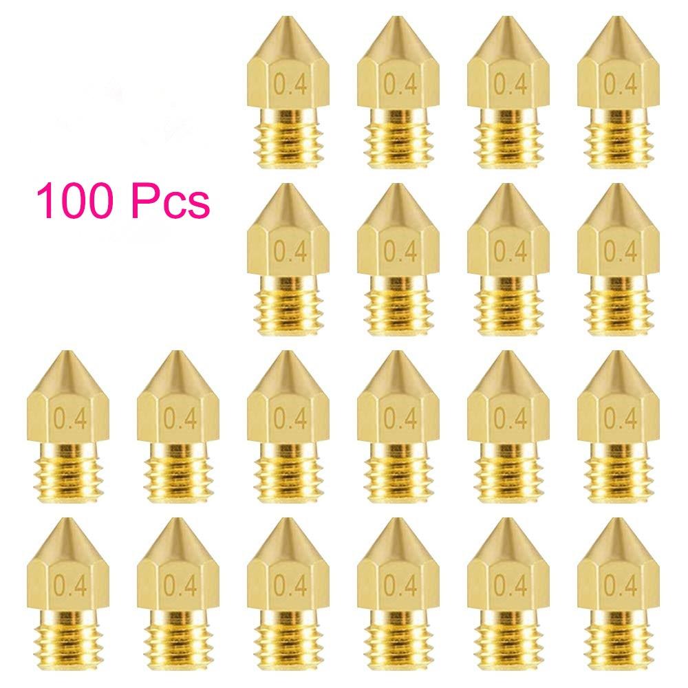 100 шт., насадки для 3D-принтера, 0,3, 0,2, 0,4 мм, 0,5 мм