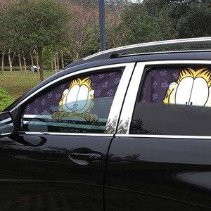 Image 2 - 1 шт. солнцезащитный чехол для окна автомобиля мультяшный автомобильный занавес для окна Kawaii Магнитный боковой солнцезащитный занавес универсальный боковой занавес для окна
