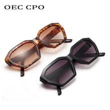 OEC CPO Vintage Square Sunglasses Women Elegant small Frame Black Shades Sexy Sun glasses femal Brand Glasses O248