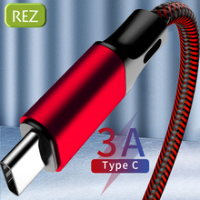 REZ USB Type C Cable to Type A For Samsung S10 S9 S8 Red Fast Charging USB Cable Type-C kabel Usb Data Wire USB-C провод кабель цена 2017
