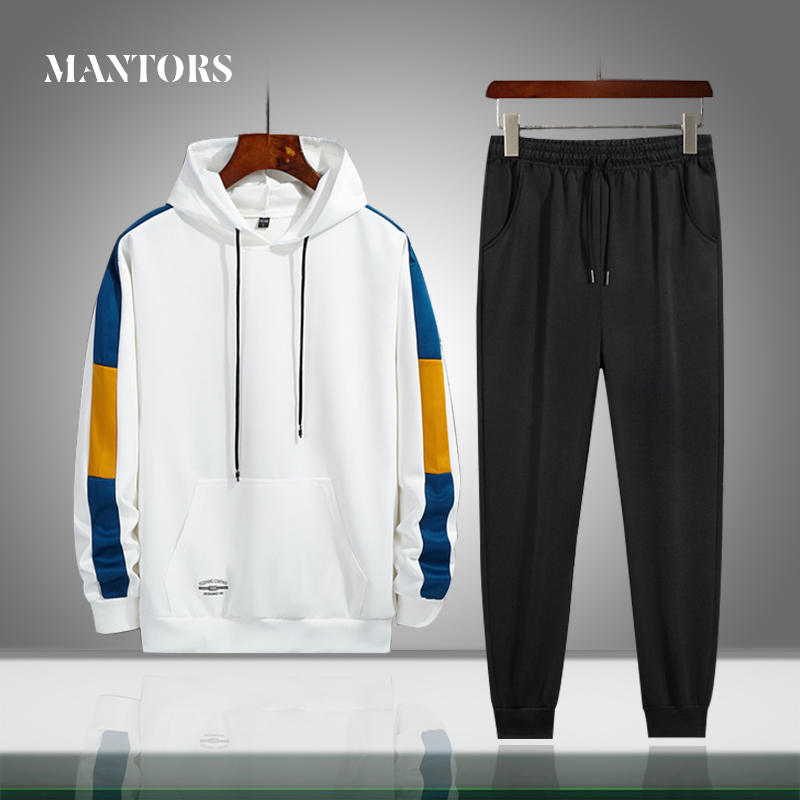 Men Tracksuits Sportswear Pants Hoodies Casual-Sets Autumn Male 2piece New Spring