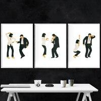Pulp Fiction Poster Kunstdruck Classic Movie Jack Kaninchen Dance Poster Minimalistischen Wand Kunst Leinwand Malerei Wand Bild Home Decor