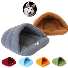 Warm Soft Polar Fleece Dog Beds Winter Pet Heated Mat Slippers Kennel House for Cats Sleeping Bag Nest Cave Bed