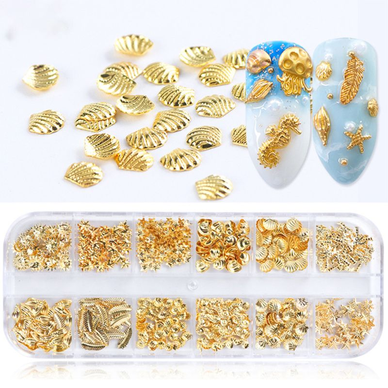 Free Shipping 12 Pcs/box Charm Jewelry Making Epoxy Resin Fillers Gifts DIY Nail Art Accessories Decoration