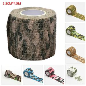 Outdoor Camouflage Non-woven Self-adhesive Elastic Bandage 2.5CM X 4.5M Camouflage Waterproof Multi-functional Bandage