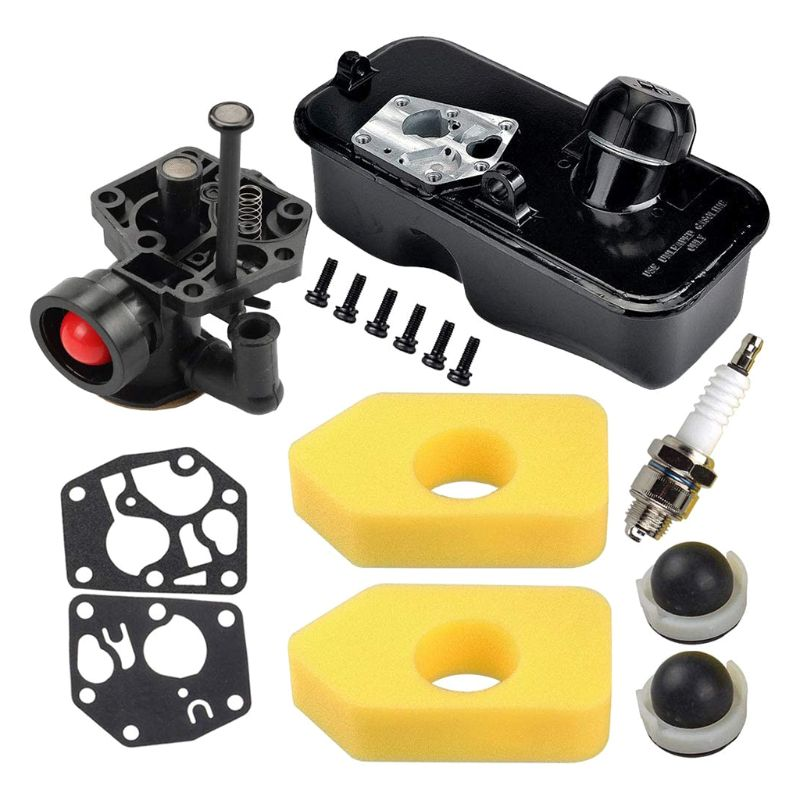 795477 Carburetor with 494406 Fuel Tank 698369 Air Filter 694394 Primer Bulb for Briggs  amp  Stratton 10A902 Engine Replace