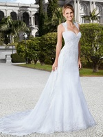 Lace Appliques Mermaid Wedding Dresses Sleeveless Bridal Gowns 2020 Modest Formal With Detachable Train Long Custom