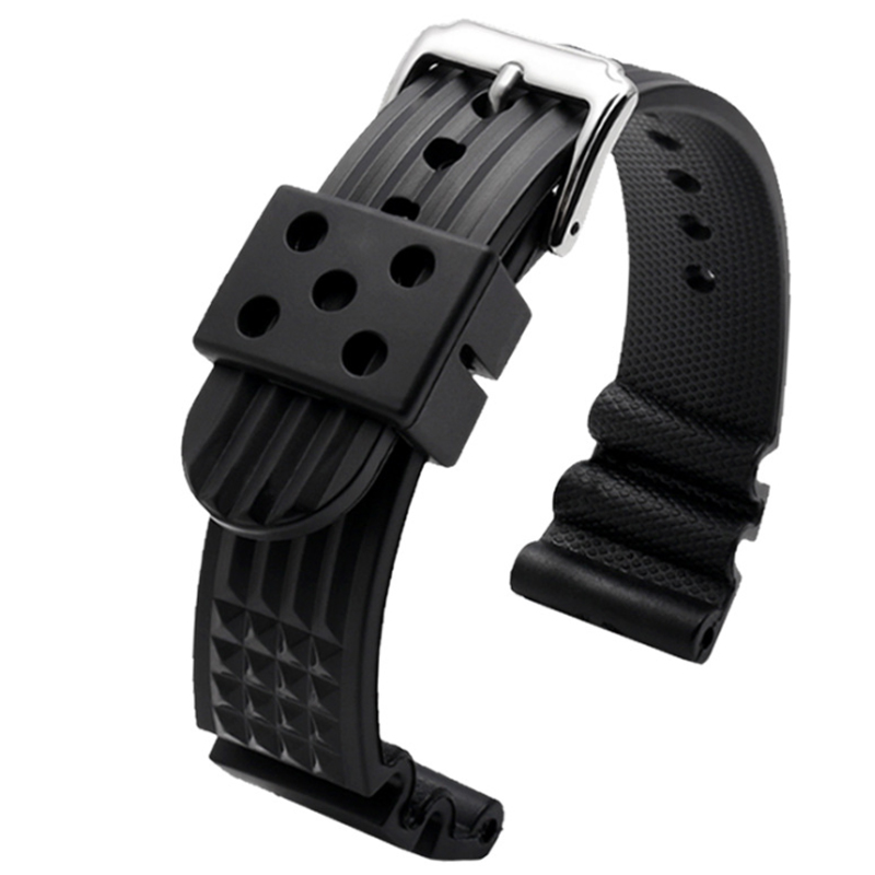 For MM300 SBDX001/012/01 6105 SOFT Rubber Waffle Watch Band For 22MM Watchband
