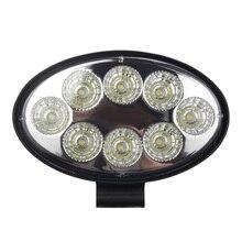 Auto Led Verlichting Ovale 24W Spot Off Road Voertuig Dak Licht Inspectie Licht Auxiliary Truck Licht Verbeterde verlichting
