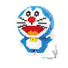 hot LegoINGlys creators Japan Anime Robot cat Doraemon micro diamond building blocks model nano bricks toys for children gifts