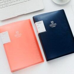 Kreatywne artykuły papiernicze 80 stron Folder A3 prosta teczka na dokumenty darmowa wysyłka rozszerzająca wielowarstwowe kieszenie organizer na dokumenty Folder w Teczki na dokumenty od Artykuły biurowe i szkolne na