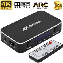 HDMI-compatible2.0 коммутатор 4 разреза 1 группа аудио разделения HDCP 1,4, совместимому с HDMI переключатель 4K