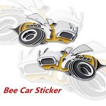 1 PCS Tuning Auto Universal Metal Super Bee Auto Fender Side Stickers Voor dodge challenger accessoires Hemi SRT Auto Accesoires