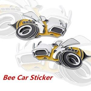 Image 1 - 1 adet Tuning araba evrensel Metal süper arı araba çamurluk yan çıkartmalar dodge challenger aksesuarları Hemi SRT araba aksesuarları
