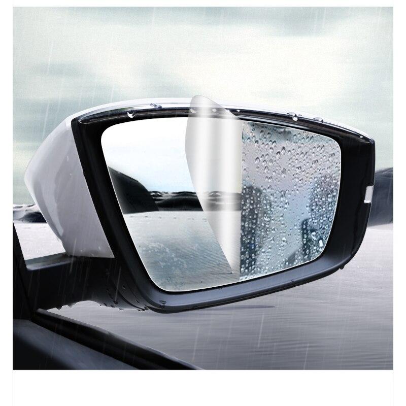 Lsrtw2017 PET Car Rearview Window Rain Shade Film Waterproof Sticker for Skoda Kodiaq Karoq Interior Mouldings Accessories in Interior Mouldings from Automobiles Motorcycles