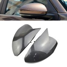цена на Replacement Real Carbon Fiber Side Mirror Covers Rearview Caps For Nissan Sylphy Sentra B18 2020 car-styling