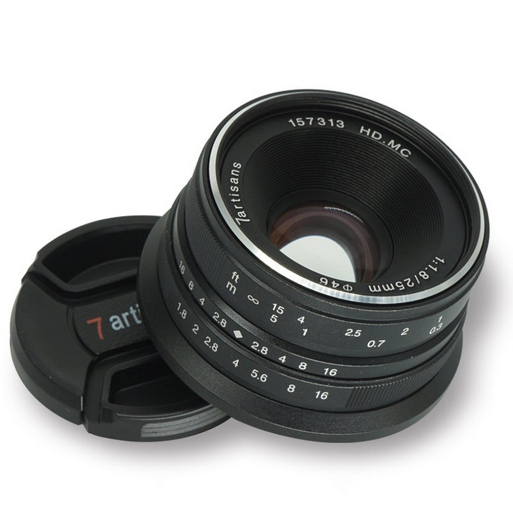 7 artisans 25mm F1.8 Prime Lens to All Single Series for M43 Metal Micro 4/3 Cameras Accessories E-Mount Manual Focus image