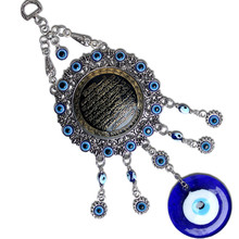 Wall-Decoration Hanging Blue Car Evil Eye-Pendant Glass-Alloy Demon Home-Ornaments Eyes