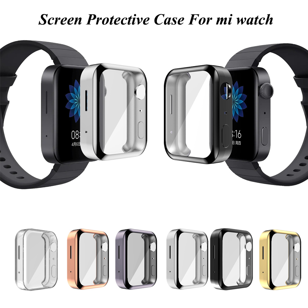 Protective Case Cover For Xiaomi Mi Watch HD Full Cover Tpu Screen Protection For Mi Watch Case Shell Smart Watch Accessories