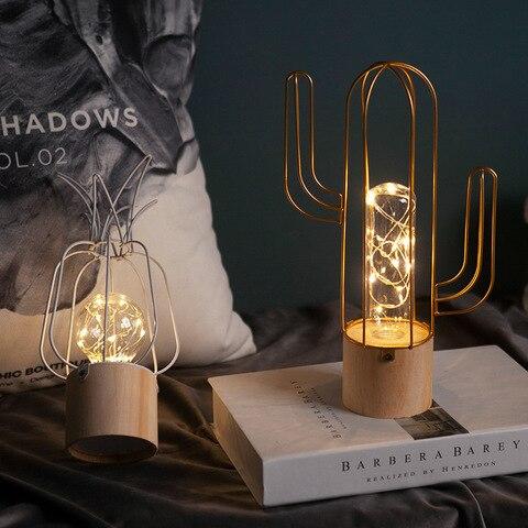 noite luz para decoracao do quarto lampada