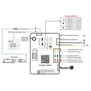 Image 5 - Система сигнализации PKE с пассивным замком, умная пассивная автомобильная система сигнализации с дистанционным управлением, без ключа, MP900A
