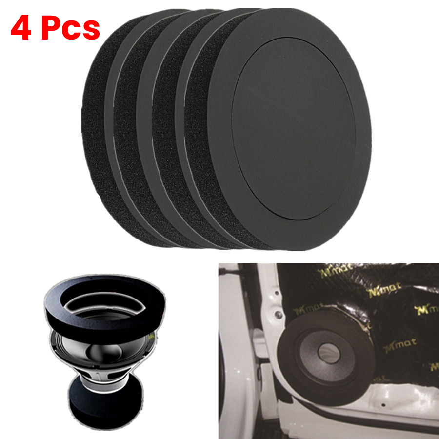 4PCS 6 5 inch Car Door Speaker Bass Ring Foam Woofer Pad Noise Sound Wave Sealed car Audio Speaker Soundproof Cotton