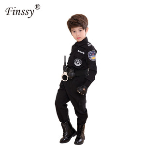 Image 4 - Boys Policemen Costumes Children Cosplay for Kids Army Police Uniform Clothing Set Long Sleeve Fighting Performance Uniforms