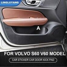 for volvo s60 v60 2020 door anti-kick pad interior four-door protective accessories car stickers