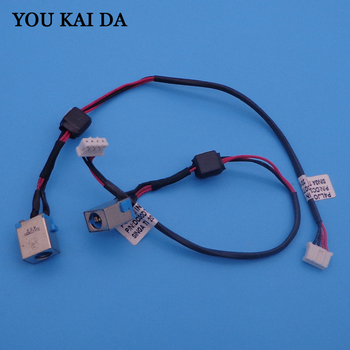 Free Shipping 50 x New Laptop DC Power Jack with cable for Acer E1-521 E1-531 E1-571 dc Jack with cable 4PIN