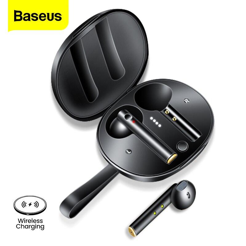 Baseus W05 TWS słuchawki Bluetooth bezprzewodowe 5.0 prawdziwe bezprzewodowe słuchawki HD słuchawki Stereo w uchu telefon sportowy zestaw słuchawkowy dla Xiaomi