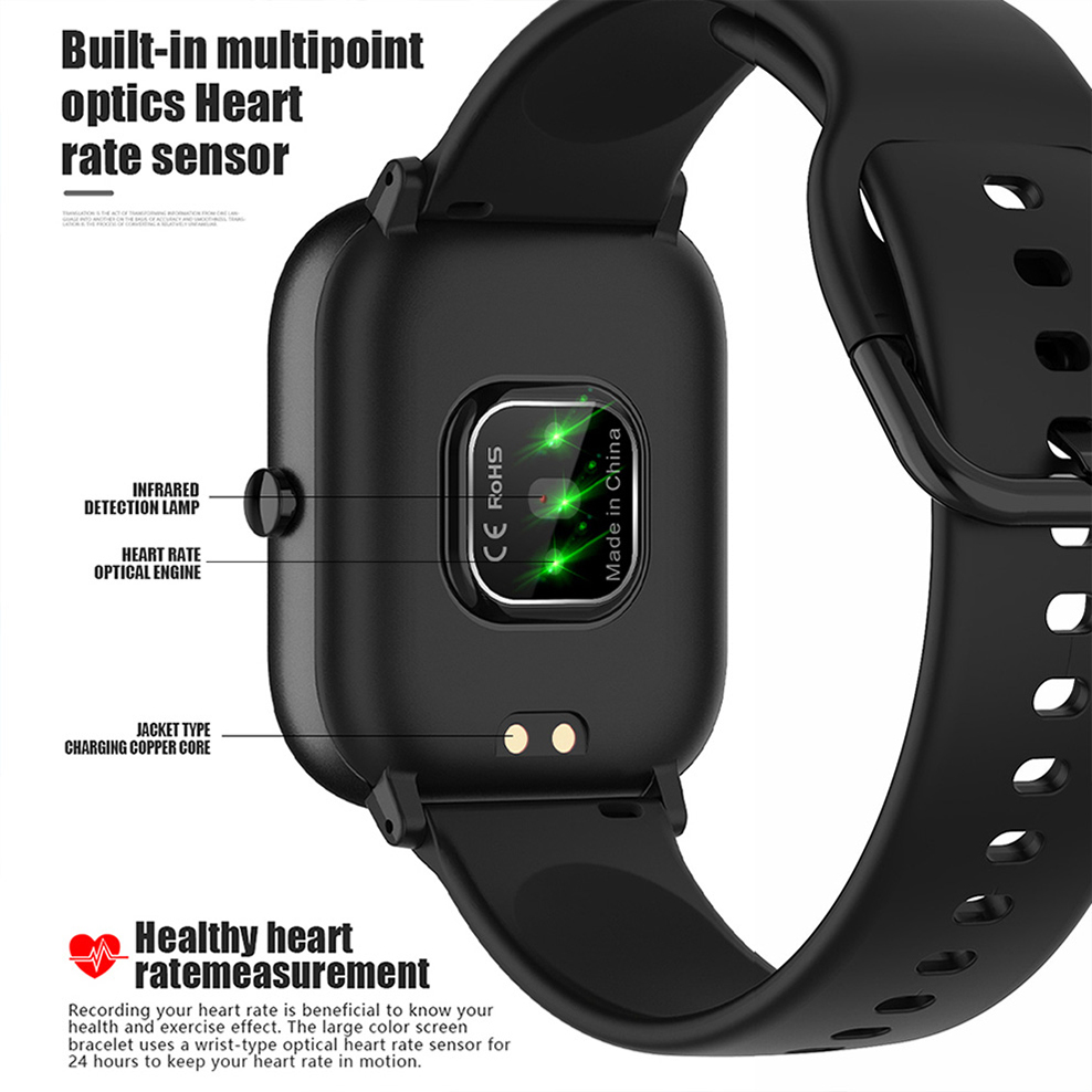 SQR P8 SE Smart Watch Men Women 1.4 Inch Fitness Tracker Full Touch Screen Ip67 Waterproof Heart Rate  Monitor for iOS Android