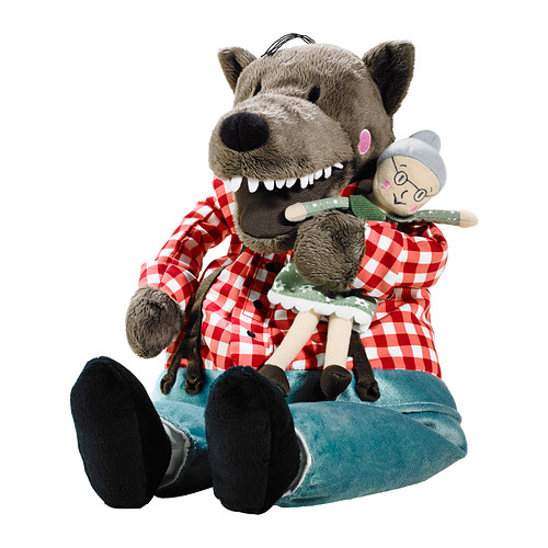 Free Shipping 45cm Lufsig New Plush Grandma Wolf / 30cm Little Red Riding Hood Toy Stuffed Wolf And Grandma Doll Gift