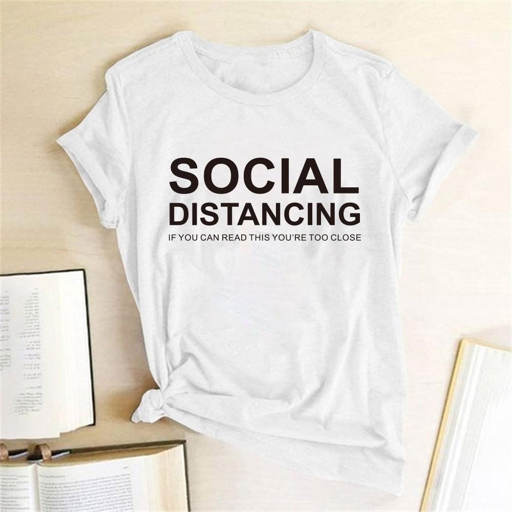 Social Distancing Women T-shirt  3
