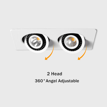 [DBF]360 Angle Adjust LED Recessed Downlight 10W 14W 20W 24W LED Ceiling Spot Light 3000K/4000K/6000K Black/White Housing Light 1