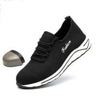 Di modo Leggero Traspirante Scarpe di Sicurezza Anti-smashing Puntale In Acciaio Scarpe Da Lavoro Mens casual Scarpa Da Tennis Militar Zapatos De