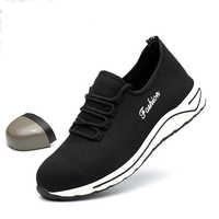 Mode chaussures De sécurité légères respirant Anti-fracassant en acier orteils chaussures De travail hommes baskets décontractées Militar Zapatos De