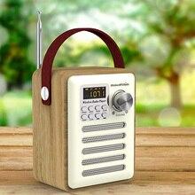 FM Receiver With Antenna Home Mini Radio Bluetooth Speaker TF Card Digital Clock #734