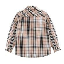 Детская одежда; Новинка года; сезон осень; отложной воротник в западном стиле; детская Клетчатая блуза с длинными рукавами; детская хлопковая одежда