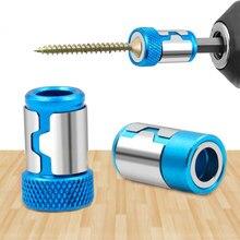 """Anneau magnétique universel 1/4 """", embout de tournevis en métal, anneau magnétique puissant pour tige de 6.35mm, foret Anti-Corrosion"""