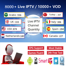 Full HD IPTV 8000 + live professional full Best European Arabic Netherlands Australia Hispanic America Indonesia M3U