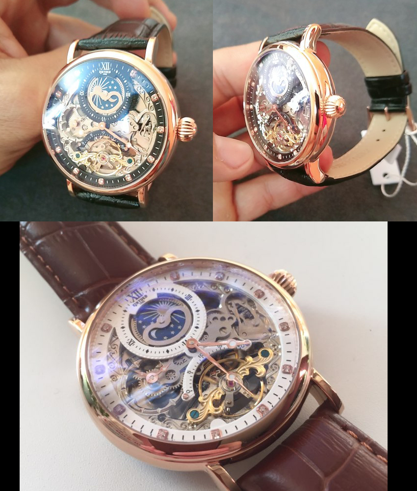 Hce0babf0f8d6463db682edcaff90518fE KINYUED Skeleton Watches Mechanical Automatic Watch Men Tourbillon Sport Clock Casual Business Moon Wrist Watch Relojes Hombre