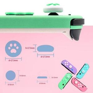 Image 5 - אגודל מקל אחיזת כובע ג ויסטיק כפתור מגן כיסוי עבור Nintendo מתג שמחה קון NS לייט בקר ABXY מפתח מדבקה עור מקרה