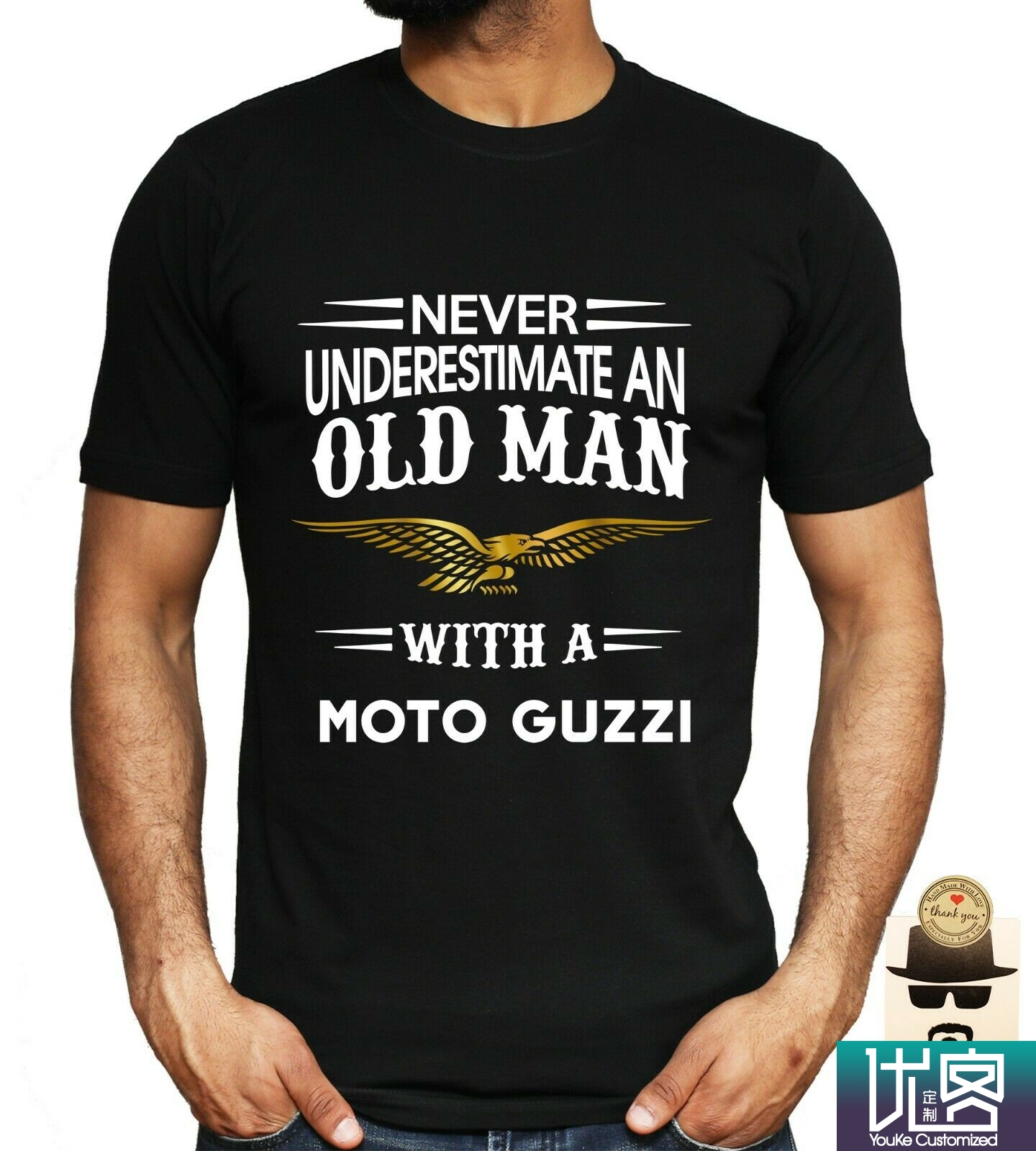 Never Underestimate Old Man With A Moto Guzzi,Mitsubishi,Mini,Skynet,Suzuki,Tesla Car Amazing Men's Short Sleeve T-Shirt