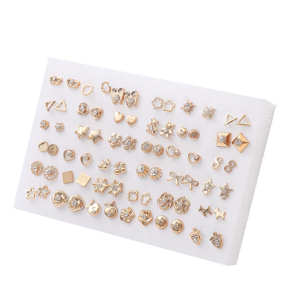 18 Paires//Set Silver Mixed Style Fleur /& Coeur en Plastique Clou Boucle d/'oreille Fashion Jewelry