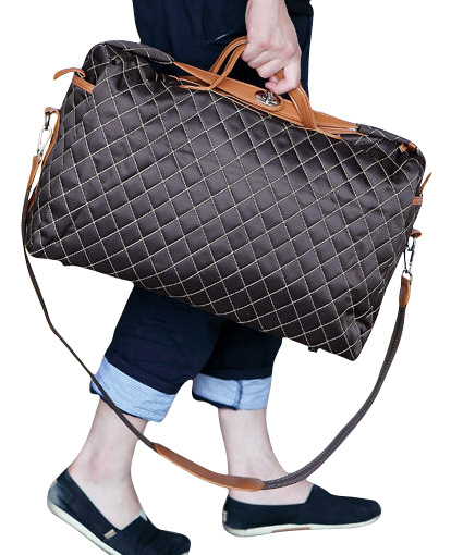 Casual Plaid British Men Portable Travel Bag Fashion Men's Shoulder Crossbody Bag Large Capacity Wear Resistant PU Messenger Bag